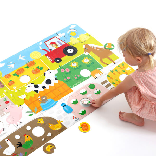 Suuuper Size Puzzle Farm Match Fun - jumbo farm puzzle for toddlers