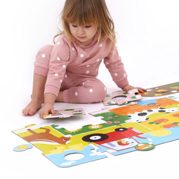 Suuuper Size Puzzle Farm Match Fun - farm floor toddler puzzle