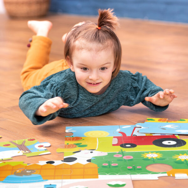 Suuuper Size Farm Match Fun giant floor puzzle for todlers