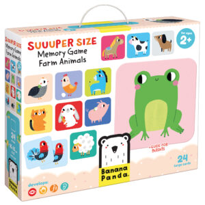 Suuuper Size Memory Game Farm Animals - farm memory matching game for toddlers
