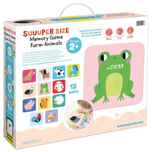 Suuuper Size Memory Game Farm Animals - giant matching game memory for toddlers
