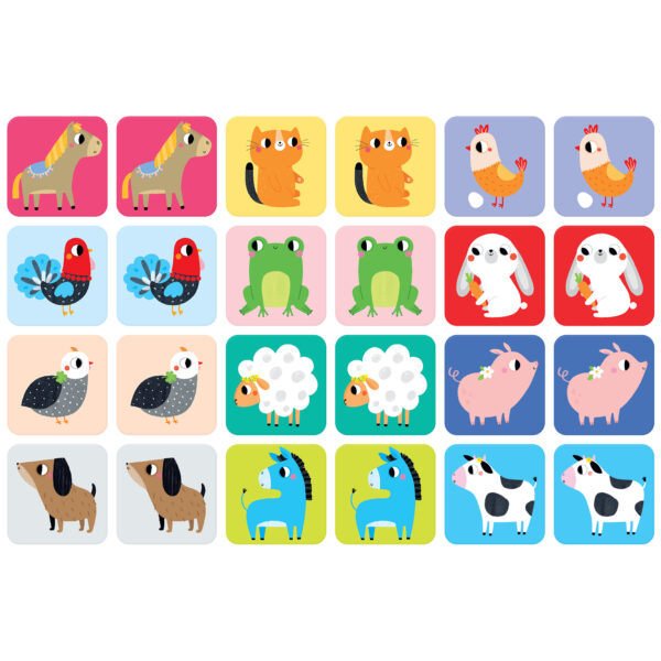 Educational memory game for toddlers - Suuuper Size Memory Game Farm Animals
