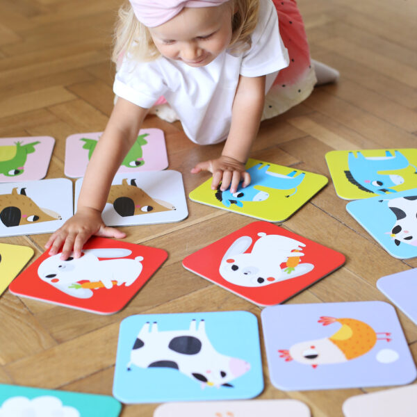 Jumbo memory game for toddlers - Suuuper Size Memory Game Farm Animals