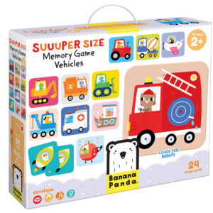 Suuuper Size Memory Game Vehicles - vehicles memory matching game for toddlers