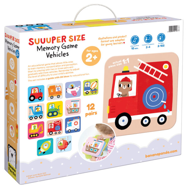 Suuuper Size Memory Game Vehicles - matching game memory for toddlers