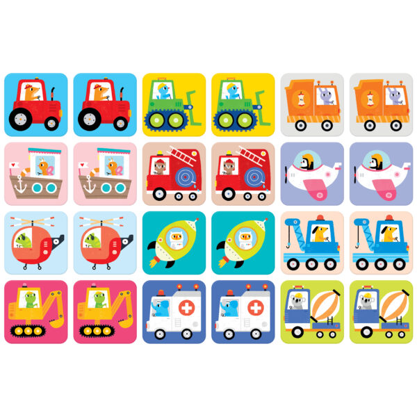 Educational memory game for toddlers - Suuuper Size Memory Game Vehicles