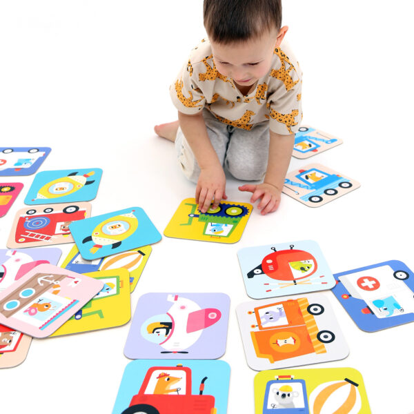 Jumbo memory game for toddlers - Suuuper Size Memory Game Vehicles