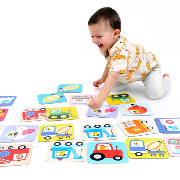 Memory game for toddlers - Suuuper Size Memory Game Vehicles