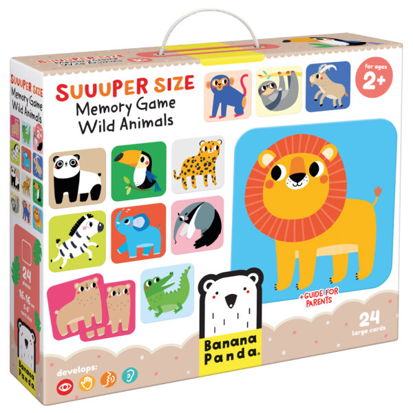 Suuuper Size Memory Game Wild Animals - wild animals memory matching game for toddlers