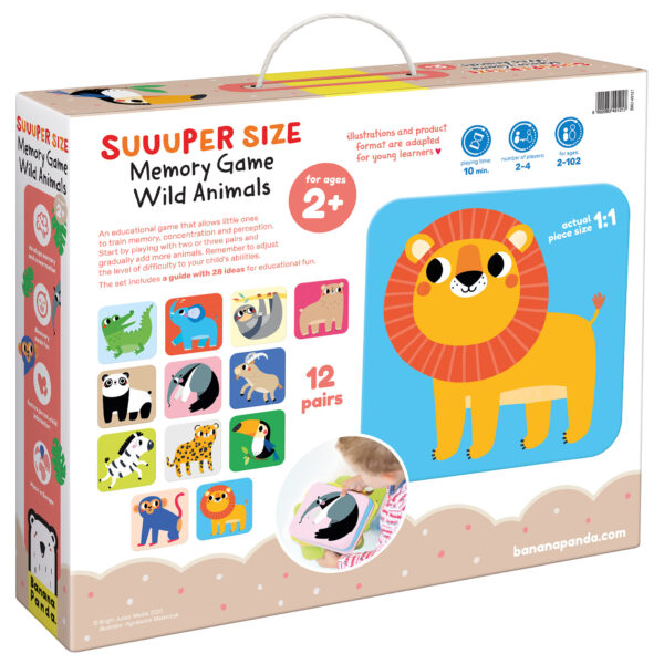 Suuuper Size Memory Game Wild Animals - matching game memory for toddlers