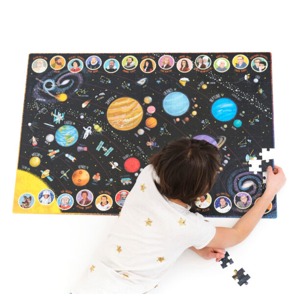 Puzzle and poster educational set - Suuuper Size Puzzle Solar System