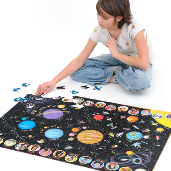 300 piece educational space-themed set - Suuuper Size Puzzle Solar System